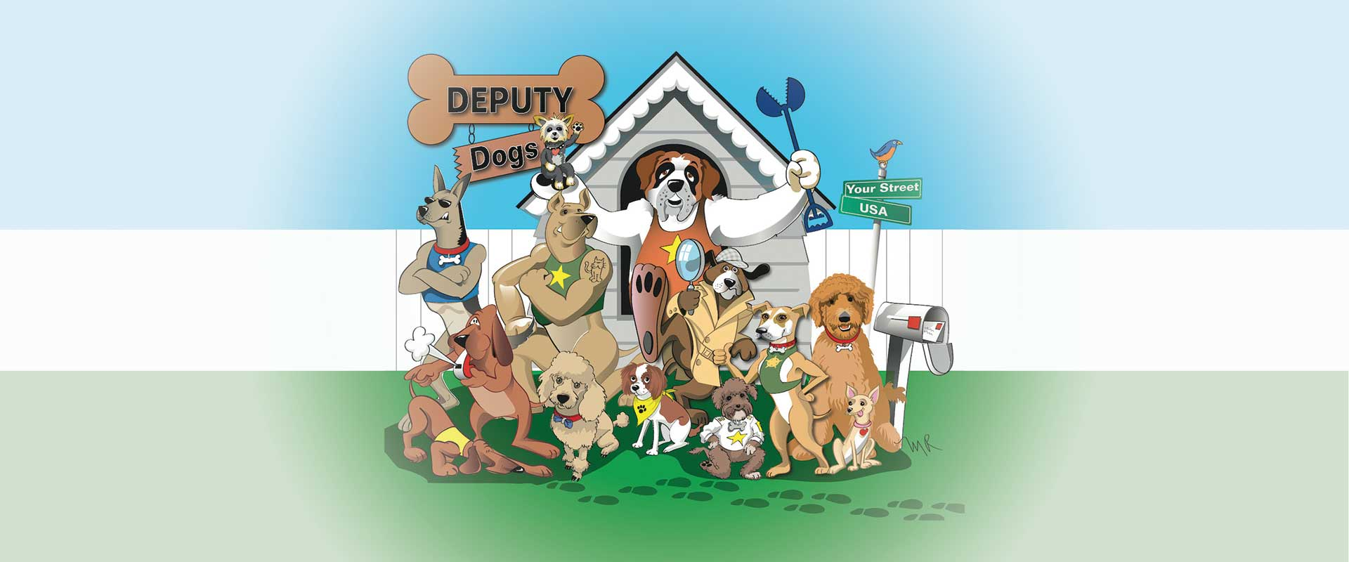 Illustration of Deputy Dogs